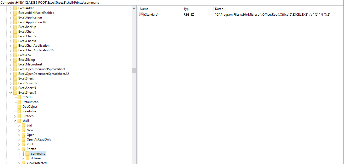 Problem with excel file and context menu