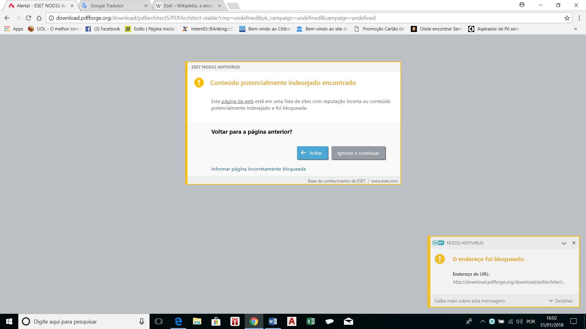 PDFFORGE page blocked by ESET antivirus - English Help - pdfforge forums
